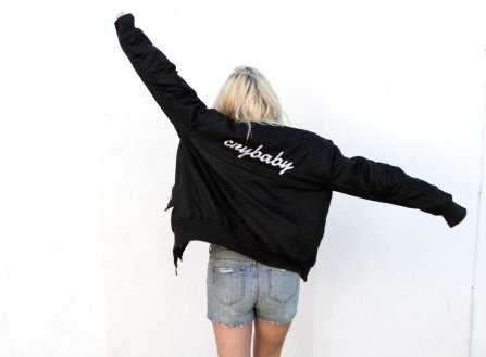 London Loves LA bomber jacket