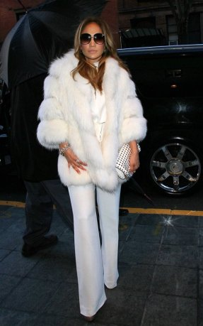 Oh, bless us all J.Lo. This coat! These pants!